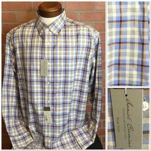Daniel Cremieux Mens shirt plaid XL (3H71)